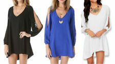 Chiffon V-Neck Dresses for Women with Cap Sleeve