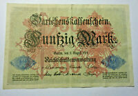 Darlehenskassenschein 50 Mark. Los 4624. schoeniger-notgeld.de