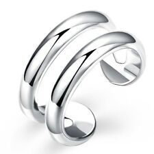 Women Open Rings Silver Plated Fashion Jewelry Size 8