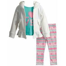 "YOUNGLAND® Girls 3T ""Love"" Top, Hoodie & Print Leggings 3 Piece Set NWT $50"