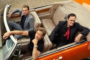 Poster Quentin Tarantino Leonardo Dicaprio Brad Pitt Film Kino Hollywood #1