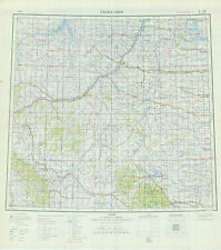 Russian Soviet Military Topographic Maps Rapid City Usa 1 1 Mio Ed 1965