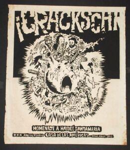 1984 Authentic Silkscreen Cuban Concert Poster.Carlos Varela.Rock Music art