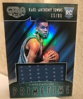 2015-16 Panini Gala Primetime Rookie Memorabilia #5 Karl Anthony-Towns RC /60 SP