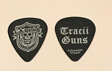 L.A. Guns - Tracii Guns 2012 Hollywood Forever Tour Signature Guitar Pick Black