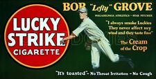 1928 Lucky Strike Store Counter Standup Sign Lefty Grove Philadelphia A's Repro