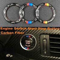 Carbon Fiber Car Engine Start Stop Button Ring Trim For BMW 3 Series E90 E92 E93