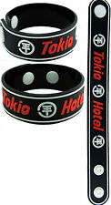 TOKIO HOTEL NEW! Rubber Bracelet Wristband aa82 White Line World Behind My Wall