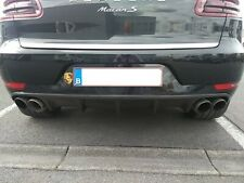 For Porsche Macan Real Carbon Turbo Diffuser Tailgate Bumper DTM Style