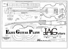 Luthiers Project Plan/Drawing for LEFT HANDED  Hofner type violin Bass P061L