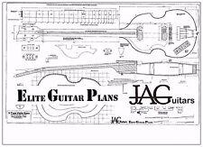 Piano di Progetto Liutaio/disegno per mano sinistra violino Tipo Hofner Bass P061