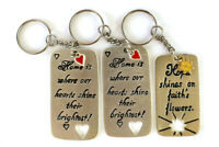 Lot of 3: Key Rings With Messages ~ Home & Hope