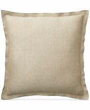 Ralph Lauren Gold Metallic Herringbone Euro European Pillow Sham 26x26