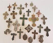 Russland Antike Metallikone Kreuze  Anhänger Konvolut Sammlung