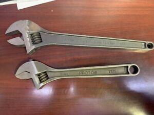 "SET OF PROTO ADJUSTABLE WRENCHES 15"" & 12"" WRENCH 712S 715S (MI1051049)"