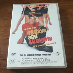 40 Days and 40 Nights DVD R4 Like New! FREE POST
