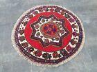 132x140 cm Round rug nice wool rug Afghan handmade area rug thaimani tribal