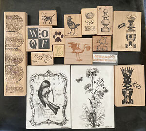 Wooden mounted stamp lot