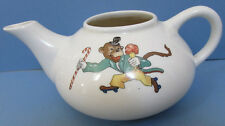 OLD ROLLER SKATING MONKEY TEA POT * BY E M  KNOWLES CHINA CO *  FREE SHIP TO USA