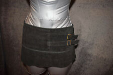 Sexy leather/suede micro mini skirt &
