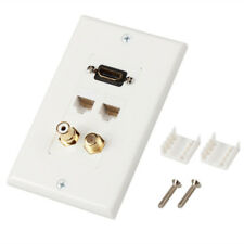 HDMI Ethernet RJ45 Cat5e/6RCA Coaxial Wall Plate Jack Socket Insert Outlet Cover
