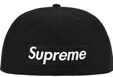 SUPREME REVERSE BOX LOGO NEW ERA HAT BLACK SIZE 7 1/4 SS21 WEEK 5 (IN HAND) NEW
