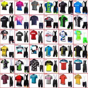 New 2019 Men Team Cycling Jersey Clothing short sleeve shirts bib shorts set U02