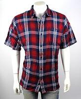 True Religion $149 Men's Loose Fit Plaid Button Up Shirt/Top - MSGAQ4BM3