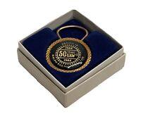 Vintage UAW 50 Year Region 10 Ralph Koenig,Director Key Ring w/Original Box NEW