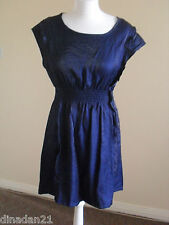 Angeleye dress, size M/L (12-14), short, blue/shiny, brand new