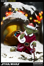 "Sideshow Star Wars Santa Holiday Yoda Jedi  12"" Action Figure 1:6 NEW IN STOCK"