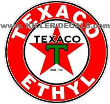 "24"" TEXACO ETHYL GASOLINE GAS PUMP OIL TANK DECAL (TEXA-7)"