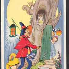 "Mint.! Fairies ""Town Crier"" ""All'S Well!"" On Rounds,Owl,Moon,Steele,Po stcard"