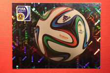 Panini BRASIL 2014 N. 7 THE BALL WITH BLACK BACK TOPMINT!!