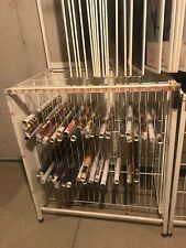 Poster Display Rack Shows 48 different on 24 Wings Holds 480 Used 6 Wing Missing
