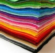 60 Pieces of A4 Acrylic Felt Fabric Pack - 25 Assorted Colours tracked delivery
