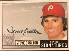 1999 UD Legends Steve Carlton Auto Philadelphia Phillies Autograph