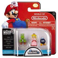 Nintendo 3 Figure Pack YOSHI/PRINCESS PEACH/BOB-OMB Super Mario Bros Microland