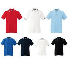 Fruit of the Loom Camiseta Polo Hombre Tipped Rayas de Contraste