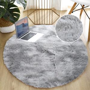 Round Non-slip Bathroom Water absorption Mats Fluffly Bedside Floor Mat Carpet