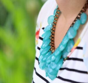 Plastic Turquoise Chain Necklace