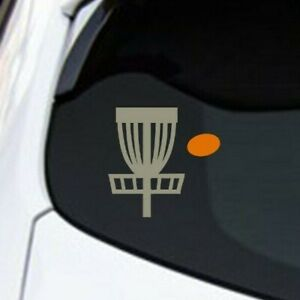Disc Golf Basket and Discs Vinyl Decal Sticker - 6 Disc Stickers and Basket! USA