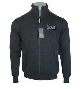 New Men's Authentic Hugo Boss Zipped Sweatshirt Jacket RRP £115 Italian Fabric
