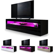 "Black High Gloss Modern TV Stand Unit Media Entertainment Center ""Valencia"""