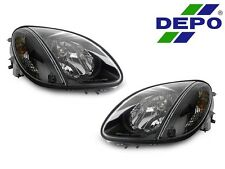 DEPO 98-04 Mercedes Benz R170 SLK Class Euro Black Headlights with Corner Light
