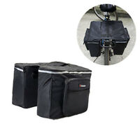 Bicycle Bike Cycling Roll-up Pannier Bag Market Rear Rack Tail Seat Double Side