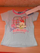 tee-shirt fille disney CHICKEN LITTLE bleu/rose pailleté taille 5 ans - neuf