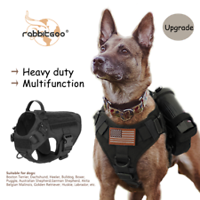 rabbitgoo Tactical Dog Harness No-pull Extra Large Military Training Vest Handle