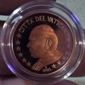 MONNAIE EURO VATICAN 2005 BELLE ÉPREUVE 2 CENT CENTIMES BE JEAN PAUL II.