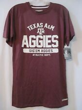 NWT Womens Small MAJESTIC Section 101 Fusion Fit Texas ATM A&M Aggies Top